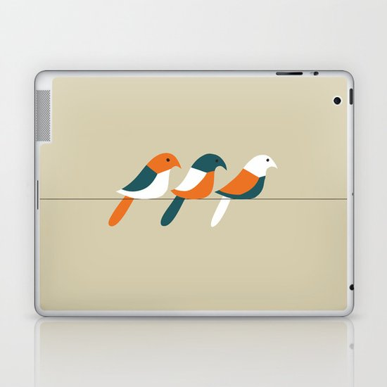 Birds on wire Laptop & iPad Skin