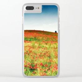 Poppy's field Clear iPhone Case