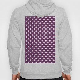 Byzantium Purple and White Polka Dot Pattern Hoody
