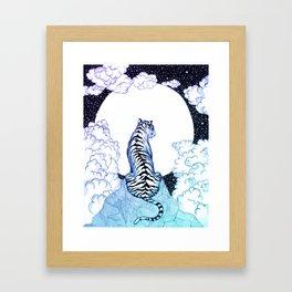 Ombre Tiger Moon Framed Art Print