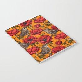 Wrens in a red anemone garden     Notebook