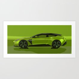 Vanquish Zagato Shooting Brake Art Print