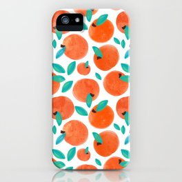 Coral Fruit #painting #pattern iPhone Case