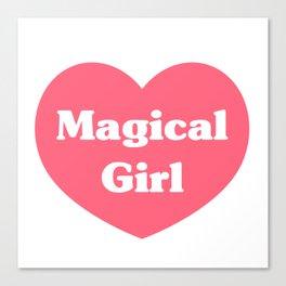 Heart Magical Girl Canvas Print