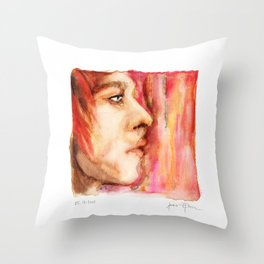 The Man Who Sold the World, Bowie portrait by Ines Zgonc Throw Pillow