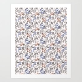 Zodiac Pattern Art Print