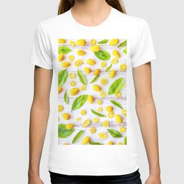 Fruits and leaves pattern (22) T-shirt