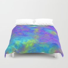 Psychedelic Mushrooms Effects Duvet Cover