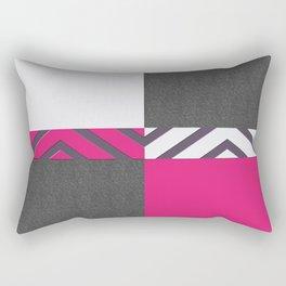 Monochrome Pink Tiles Rectangular Pillow
