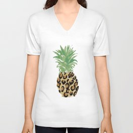 Pineapple Print Unisex V-Neck