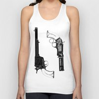 guns Tank Tops featuring Two Guns by Broenner