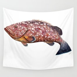 Dusky grouper or merou Wall Tapestry