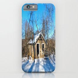 Old House in the Snow iPhone Case