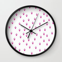 Pink Lights on Snow Wall Clock