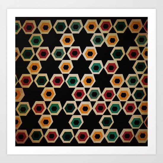pentagons Art Print