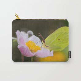 Yellow butterfly on a flower Carry-All Pouch
