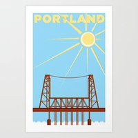 PDX Travel / Bridge Art Print
