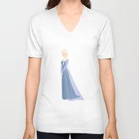 frozen elsa V-neck T-shirts featuring Elsa, Frozen by carolam