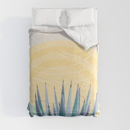 Agave in the Desert Oasis #3 #tropical #wall #art #society6 Comforters