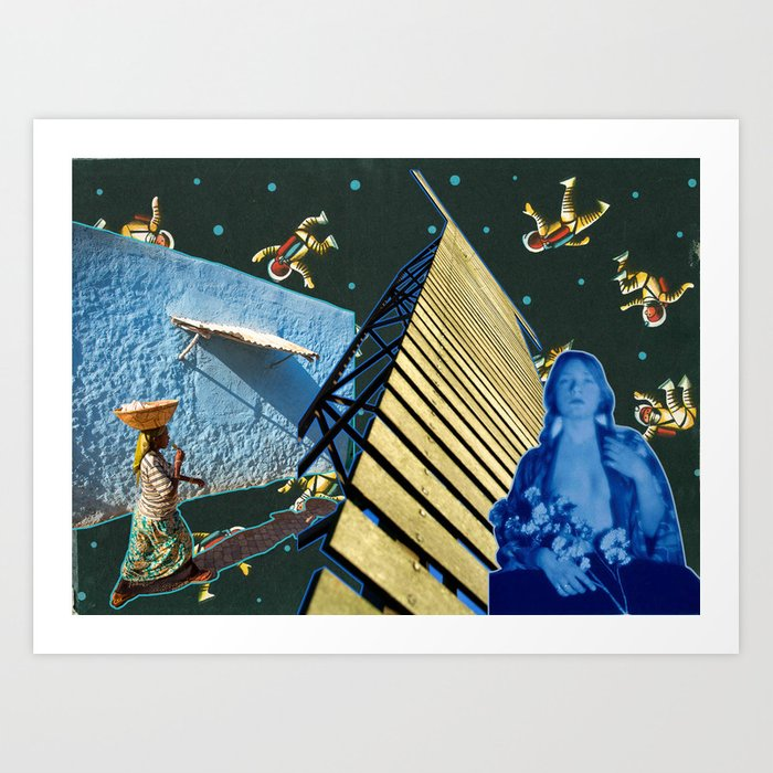 Stairway to the Other Planets, Prague 1962 Art Print