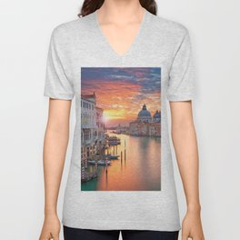 Sunset in Venice Unisex V-Neck