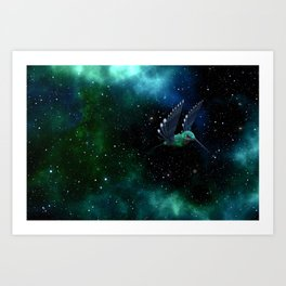 Space Hummingbird Art Print