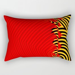 R3D Ye!!oW B!ack Rectangular Pillow