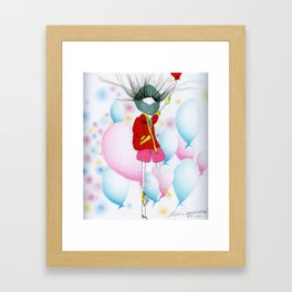 Whoever Said I Wasn't Happy Framed Art Print