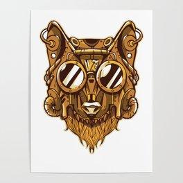 Steampunk Wolf Poster