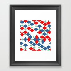geometric number 5 Framed Art Print