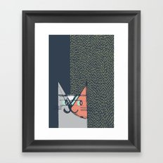 Cubist Cat Study #1 by Friztin Framed Art Print