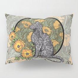 Cat Nouveau Pillow Sham