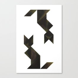 Tangram Cats Canvas Print