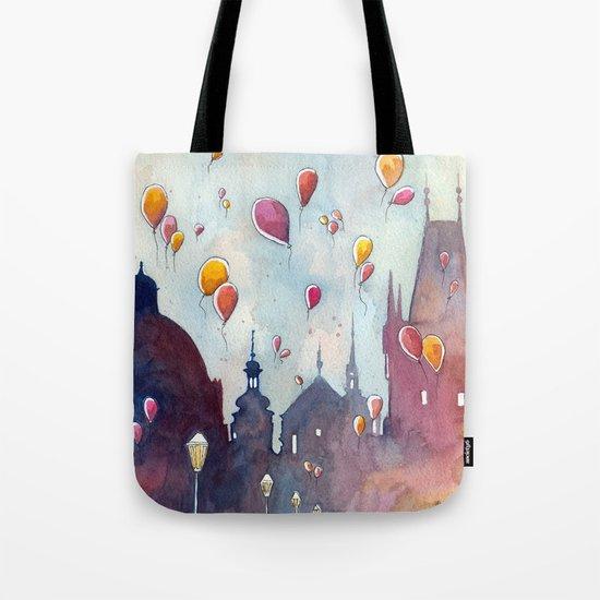 Balloons at Charles Bridge Tote Bag