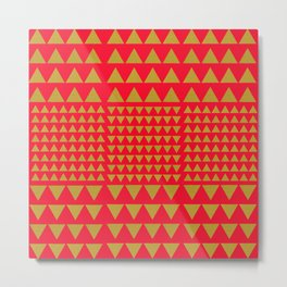 Golden Triangles Red Metal Print