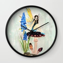 My childhood fantasy. colored Wall Clock