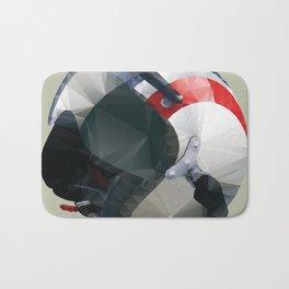 Tag Heuer Steve McQueen Cafe Racer Helmet Polygon Art Bath Mat