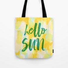Hello Sun - Sunny yellow abstract Tote Bag