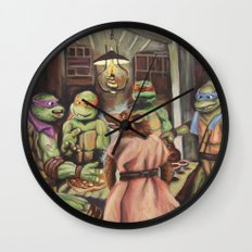 The Pizza Eaters Wall Clock