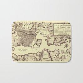 Map Of Nagasaki 1752 Bath Mat