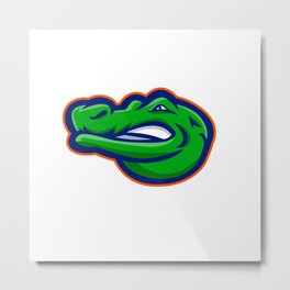 Alligator Head Mascot Metal Print
