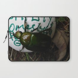 The Beetle. [INSECTS] [GREEN BEETLE] [INSECT] [BEETLE] Laptop Sleeve