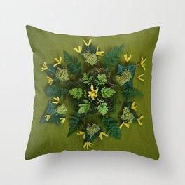 March Mandala II Throw Pillow