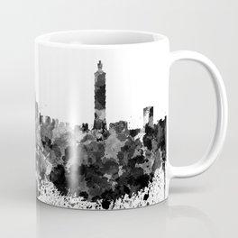 Taipei skyline in black watercolor Coffee Mug