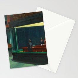 Nighthawks Edward Hopper Vintage Poster Stationery Cards