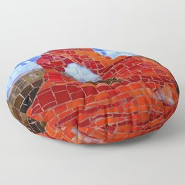Delicate Arch - Arches National Park Utah - Stained Glass Mosaic Floor Pillow