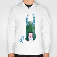 capricorn Hoodies featuring Capricorn by Aloke Design