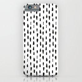 Black & White Vertical Line Pattern iPhone Case