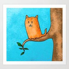 Kitty trouble Art Print