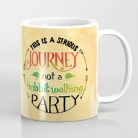 hobbit Mugs featuring Hobbit Party by Purrito Press